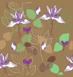 botanical print seamless pattern pattern vector image