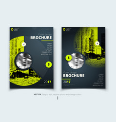 Brochure design corporate business report cover vector