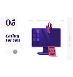 business audit website landing page consulting vector image