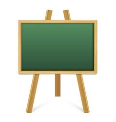 chalk green board in a wood frame on white vector image