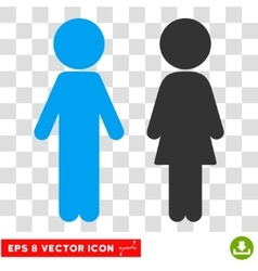 Children Couple Eps Icon vector image