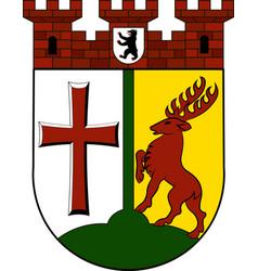 Coat of arms of tempelhof-schoeneberg in berlin vector