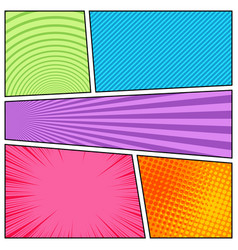 Colorful abstract bright comic composition vector