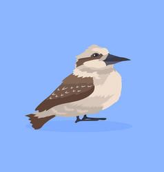 common starling bird icon cute cartoon wild animal vector image
