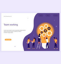 Concept for business team work vector