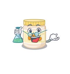 Cool almond butter professor cartoon character vector