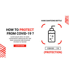 Corona virus banner template for protection from vector