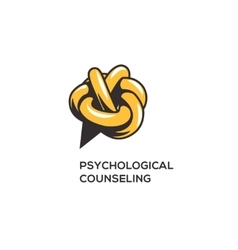 Counseling psychology logotype vector image