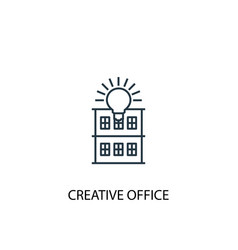 creative office concept line icon simple element vector image