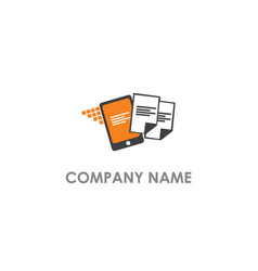 Document transfer android logo vector