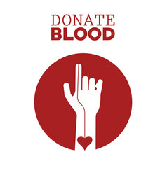 Donate blood campagne vector