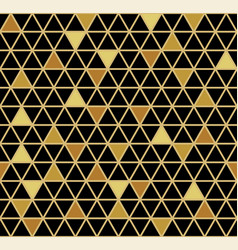 gold and black seamless geometric pattern vector image