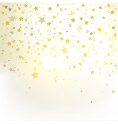 greeting with golden stars vector image