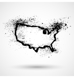 Grunge USA map vector image