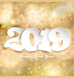 happy new year background with numbers on gold vector image