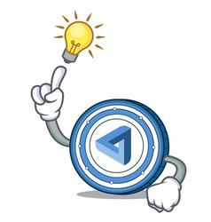 Have an idea maidsafecoin mascot cartoon style vector