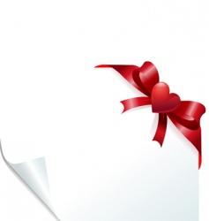 heart bow vector image