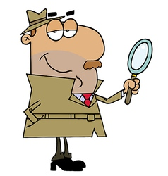 Hispanic Cartoon Detective Man vector image vector image