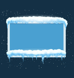 ice winter frame vector image