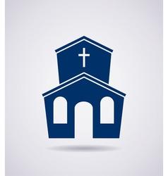 icon church building vector image