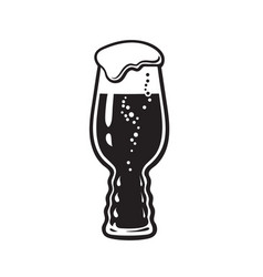 Ipa beer glass india pale ale glass hand drawn vector