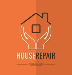 Linear logo home repair vector image