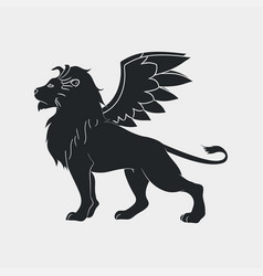 lion with wings icon vector image