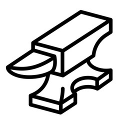 Metal anvil icon outline style vector