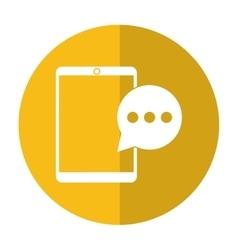 Mobile device bubble speech dialog shadow vector