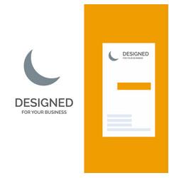 moon night sleep natural grey logo design and vector image