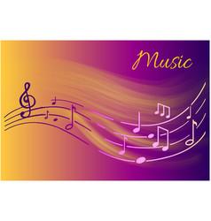 Music notes melody visual representation on sheet vector