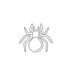 one single line drawing dangerous spider vector image