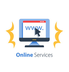 Online services web page vector