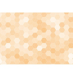 Orange hexagon abstract background template vector image