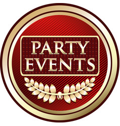 Party events icon vector