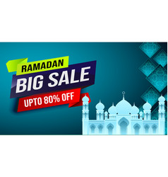 ramadan big sale web header or banner poster vector image