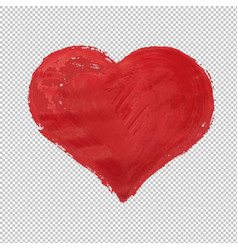 red heart symbol isolated vector image