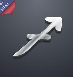 Sagittarius icon symbol 3D style Trendy modern vector
