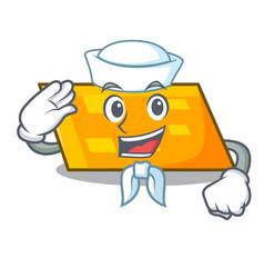 sailor parallelogram character cartoon style vector image