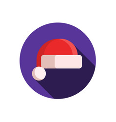 santa claus hat icon vector image