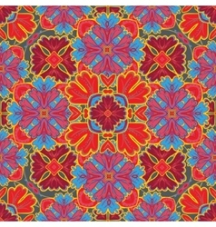 Seamless pattern from colorful Moroccan tiles vector
