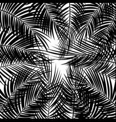 set palm leaf background isolated vector image