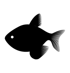 small fish icon image vector image