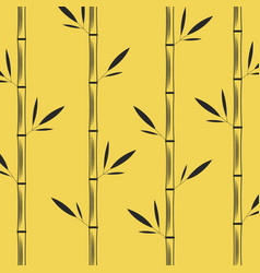 Stalks of bamboo with leaves creative oriental vector