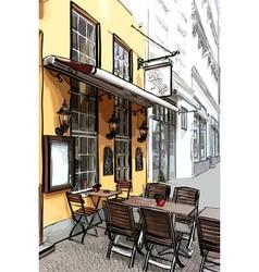 Street Cafe vector