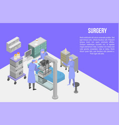 Surgery concept banner isometric style vector