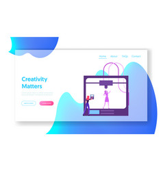 Technology innovation website landing page vector