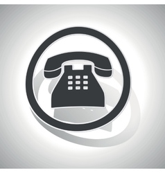 Telephone sign sticker curved vector
