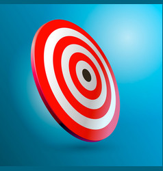 the target in a realistic style vector image