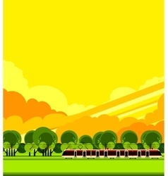 train travel countryside vector image